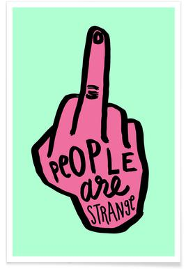 People Are Strange (Colour) - Premium poster