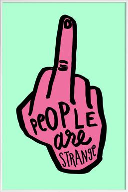 People Are Strange (Colour) - Poster in kunststof lijst