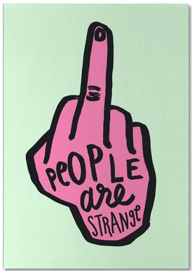 People Are Strange (Colour) -Notizblock
