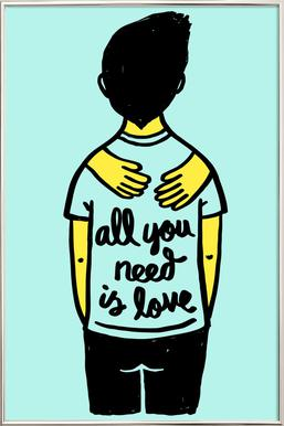 All You Need Is Love (Colour) Poster in Aluminium Frame
