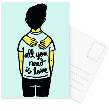 All You Need Is Love (Colour) Postcard Set