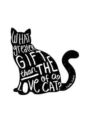 Dickens' Cat Canvas Print