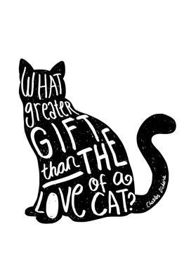 Dickens' Cat Acrylic Print