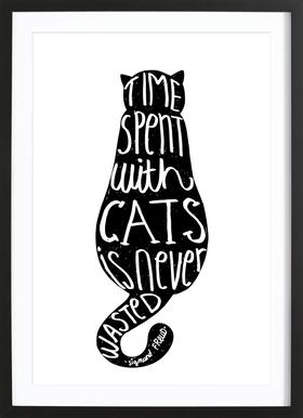 Freud's Cat Framed Print