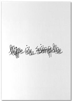 Life Is Simple Notepad