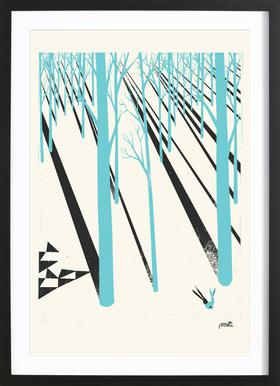 Forest 1b - Poster in Wooden Frame