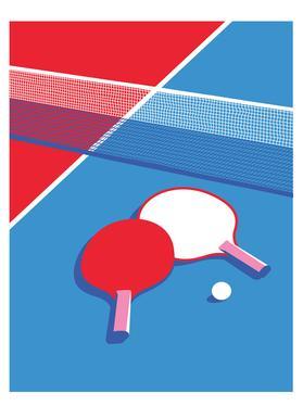 Ping Pong Lærredstryk