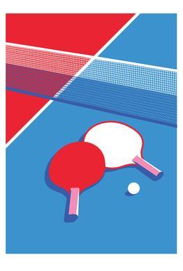 Ping Pong Plakat af aluminum