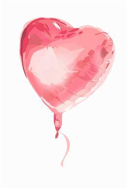 Heart Balloon -Alubild