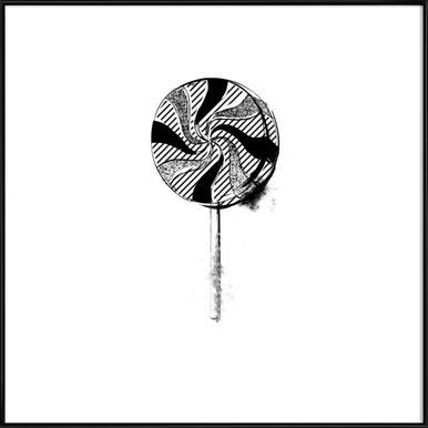 Lollipop ingelijste poster