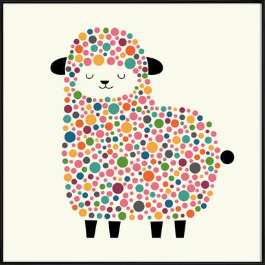 Bubble Sheep ingelijste poster