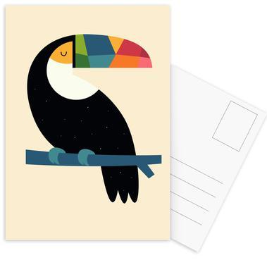 Rainbow Toucan Postcard Set
