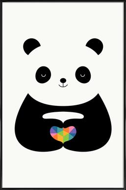 Panda Love ingelijste poster