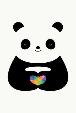 Panda Love alu dibond