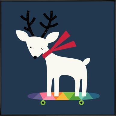 Xmas Skater -Bild mit Kunststoffrahmen