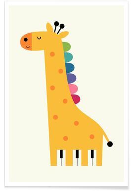 Giraffe Piano poster