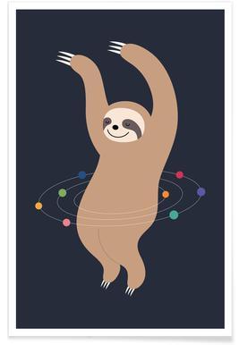 Sloth Galaxy -Poster