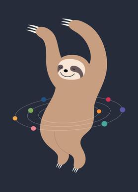 Sloth Galaxy Canvas Print