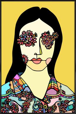 I See Flowers -Bild mit Kunststoffrahmen