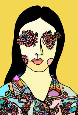 I See Flowers -Acrylglasbild