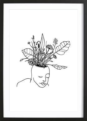The Spring Head affiche sous cadre en bois