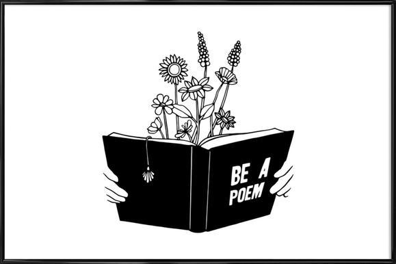 Be a Poem ingelijste poster