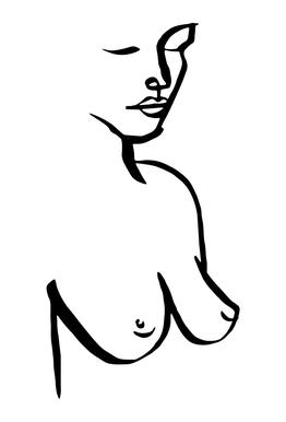 Bust acrylglas print