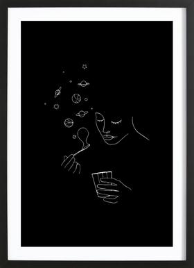 Playing With Bubbles ingelijste print