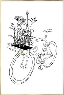 Wherever Flowers Go poster in aluminium lijst