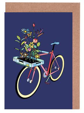 Bike and Flowers Greeting Card Set