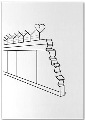 Heart Wall -Notizblock