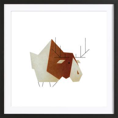 Elch #1 Framed Print