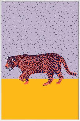 Big Cat Ice Cream - Poster im Kunststoffrahmen