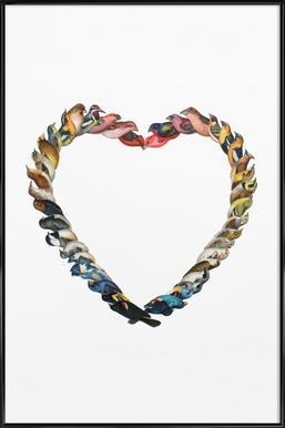Birdheart ingelijste poster