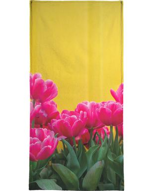Pink Tulips Yellow -Strandtuch