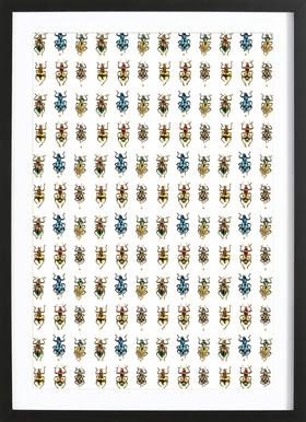 Tiny Beetles ingelijste print