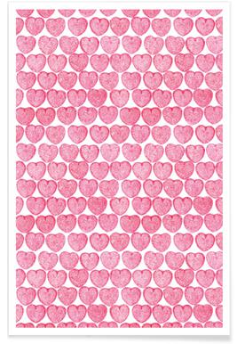 Pink Hearts -Poster