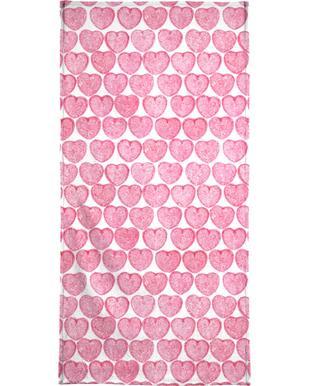 Pink Hearts serviette de plage