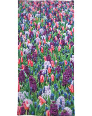 Tulip Field Purple -Strandtuch