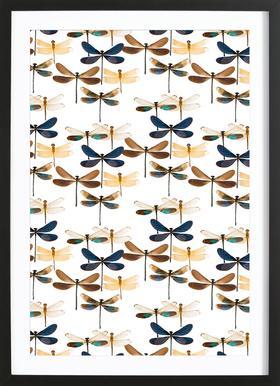 Dragonflies ingelijste print