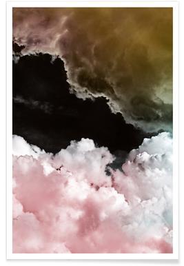 Rosa Wolken Poster