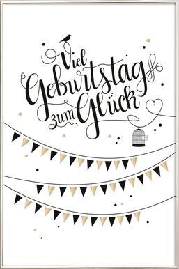 Viel Geburtstag zum Glück -Poster im Alurahmen