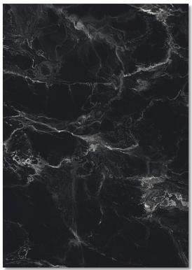Schwarzer Marmor Notebook