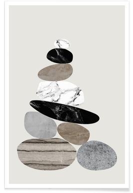 Steinhaufen Poster