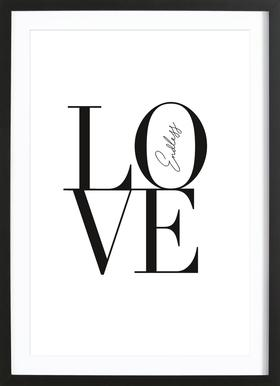 Endless Love -Bild mit Holzrahmen