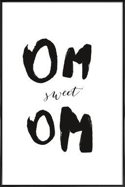 Om Sweet Om -Bild mit Kunststoffrahmen