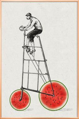 Melonenradler -Poster im Alurahmen