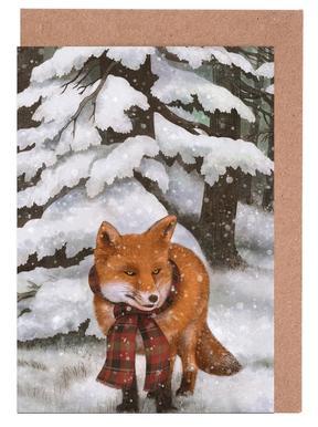 Winter Fox Greeting Card Set