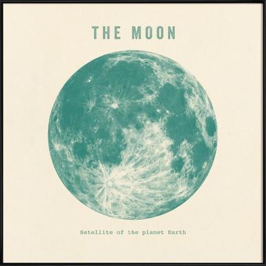 Moon ingelijste poster