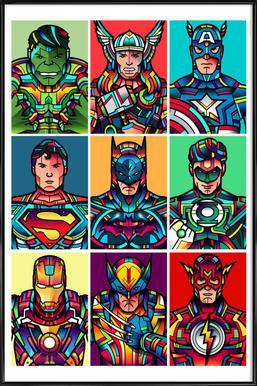 Super Pop ingelijste poster